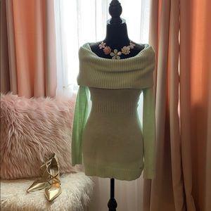 Cozy Mint Sweater by Guess